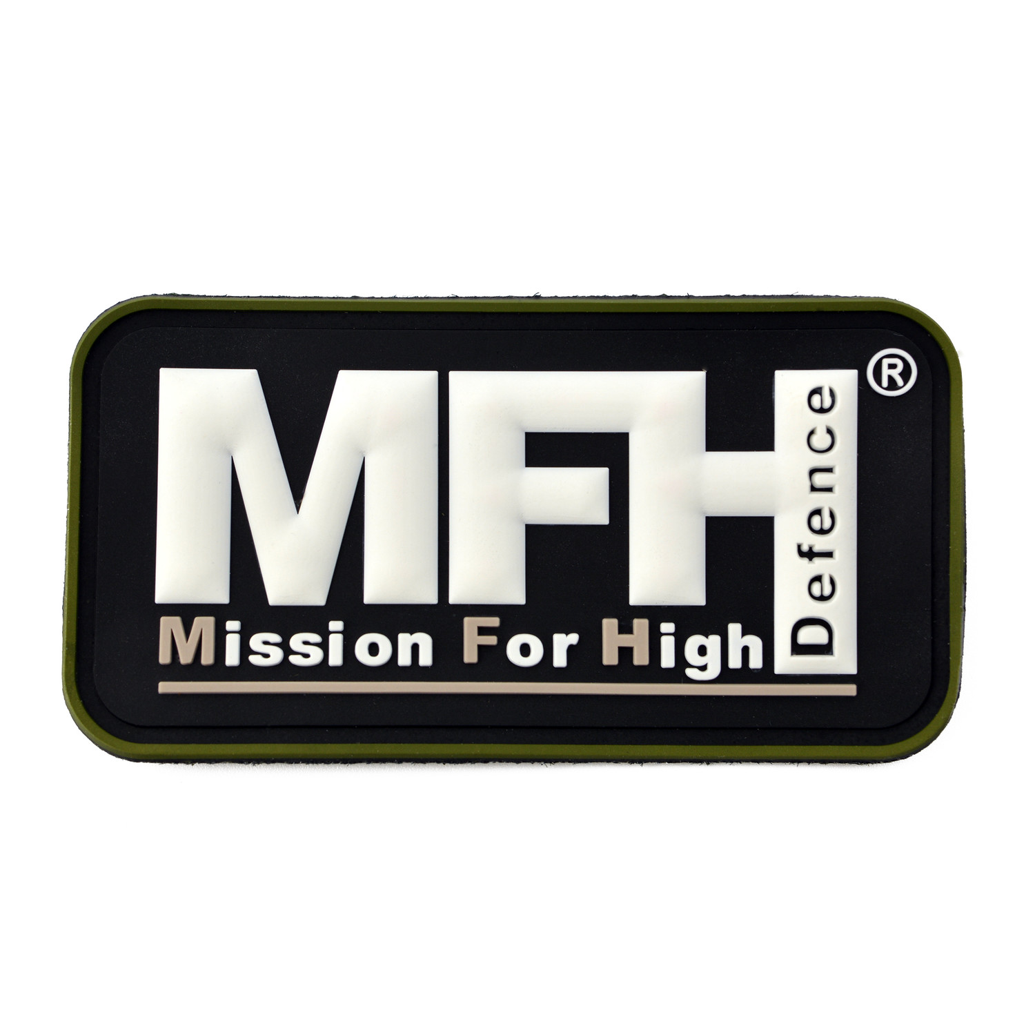 Patch MFH Mission for High Defence, 7,5 x 4 cm Klettabzeichen